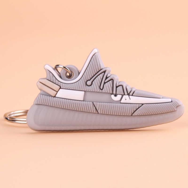 Llavero Mini silicona SPLY-350 V2 zapato llavero mujer hombres niños regalo llavero baloncesto zapatilla Porte Clef