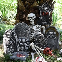 Halloween Foam Tombstone Skeleton Haunted House Bar Stone Grisly Props Party Decor Yard Decoration