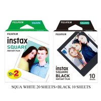 Fujifilm Instax квадратная белая кромка черная пленка фотобумага (10-100 шт) для Instax SQ10 SQ6 мгновенная камера Share SP-3 принтера