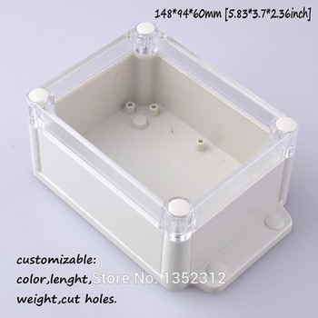5 pcs/lot 148*94*60mm housing DIY plastic enclosure abs IP68 waterproof case for electronic ABS wall moun junction control box