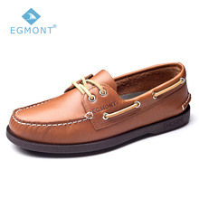 Egmont EG-09 Brown Spring Summer Boat Shoes Mens Casual Loafers Genuine Nubuck Handmade Comfortable Breathable