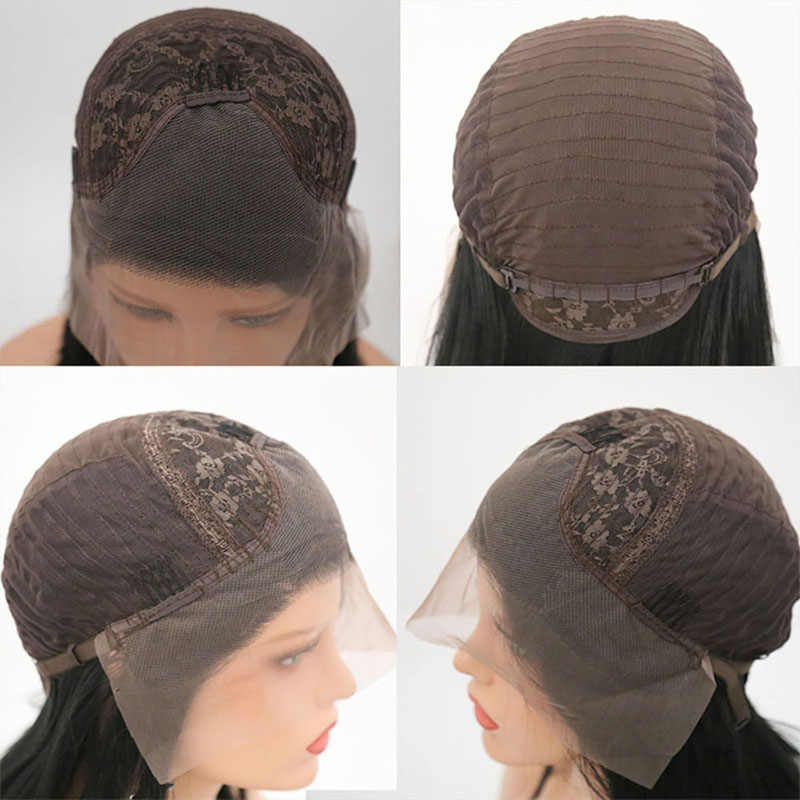Rongduoyi парик с кружевом спереди длинный кудрявый парик синтетические черные парики для женщин Термостойкое волокно с детскими волосами Топпер