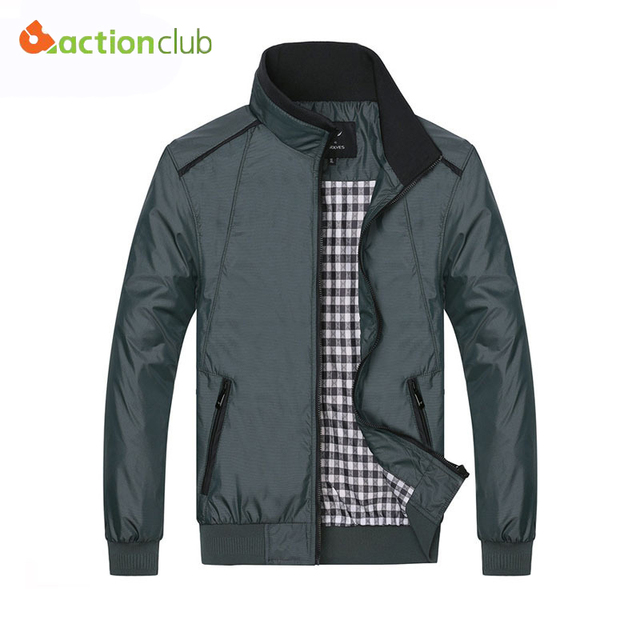 2016 Men's Spring Summer Jacket Plus Size Casual Coat New Fall Mens Fashion Comfortable Korean Style Jacket Collar Outerwear