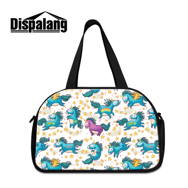 Dispalang mujeres bolsas de viaje lindo animal print mens bolsas de equipaje de gran capacidad grande duffle del recorrido bolsos chicas bolsas de hombro