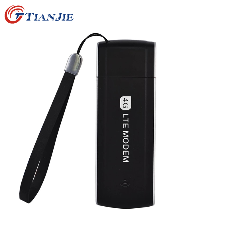 TIANJIE 4G LTE 100Mbps Unlocked Universal Portable USB Modem Network Adapter 3G/4G with SIM Card slot Mini USB Dongle Modem(China)