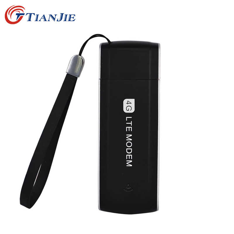 TIANJIE 4G LTE 100Mbps Unlocked Universele Draagbare USB Modem Netwerk Adapter 3G/4G met SIM card slot Mini USB Dongle Modem