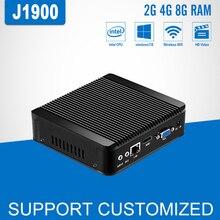 Windows 10 Mini Computer Intel Celeron J1900 Quad Core Lüfterlose Mini PC Computador DDR3 8 GB RAM 2,0 GHz HTPC HDMI TV BOX Desktop
