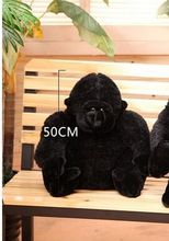 new creative plush big Ape king kong toy black orangutan toy gift about 50cm