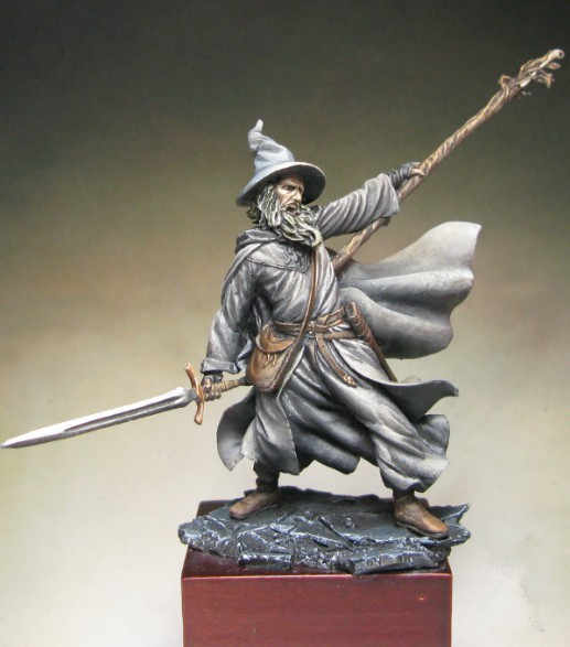 Classic 54MM Resin Model Grey Robe Wizard Kit Figure Free Shipping