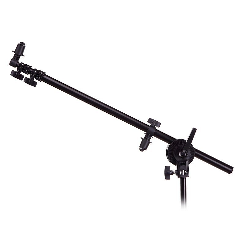 Photography Boom Arm Holder Photo Studio Stand Bracket Swivel Head for Reflector Arm Support 24-66 with Grip Head Clamp photo studio arm bar with lighting boom 2m light stand boom photography kit cross arm