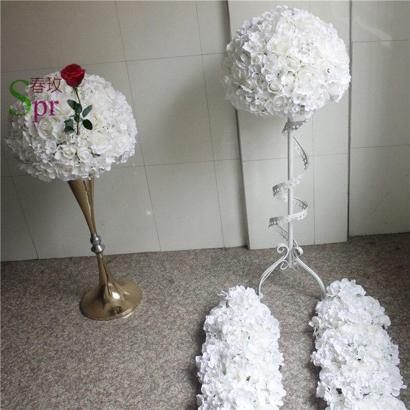 SPR bruiloft tafel centrum bloem bal bruiloft weg leiden kunstmatige flore middelpunt bruiloft achtergrond bloem decoratie-in Kunstmatige & Gedroogde Bloemen van Huis & Tuin op  Groep 1