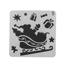 Christmas DIY Craft Hollow Layering Stencils For Wall Painting Scrapbooking Stamping Stamp Album Decorative Embossing Paper Card(China)