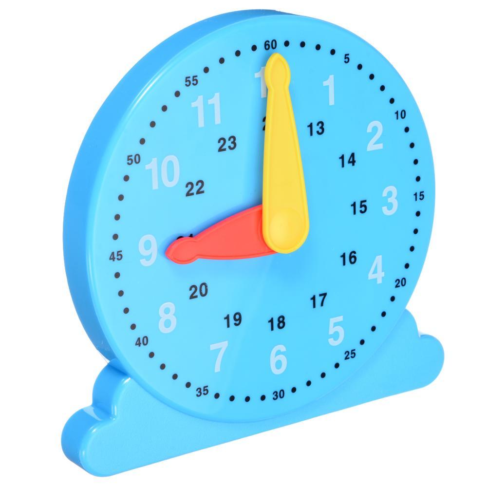 1 Pc Einstellbare Zeit Uhr Kinder Lernen Spielzeug Lehre Anzahl Kinder Zeit Pädagogisches Spielzeug Geschenk Neue Durchsichtig In Sicht
