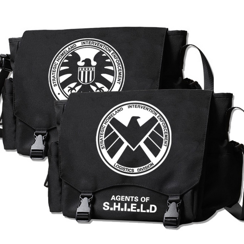 MeanCat Agents of SHIELD Collection Messenger Bag Marvel's Agents of S.H.I.E.L.D Single Shoulder Bag The Avenger Sling Schoolbag