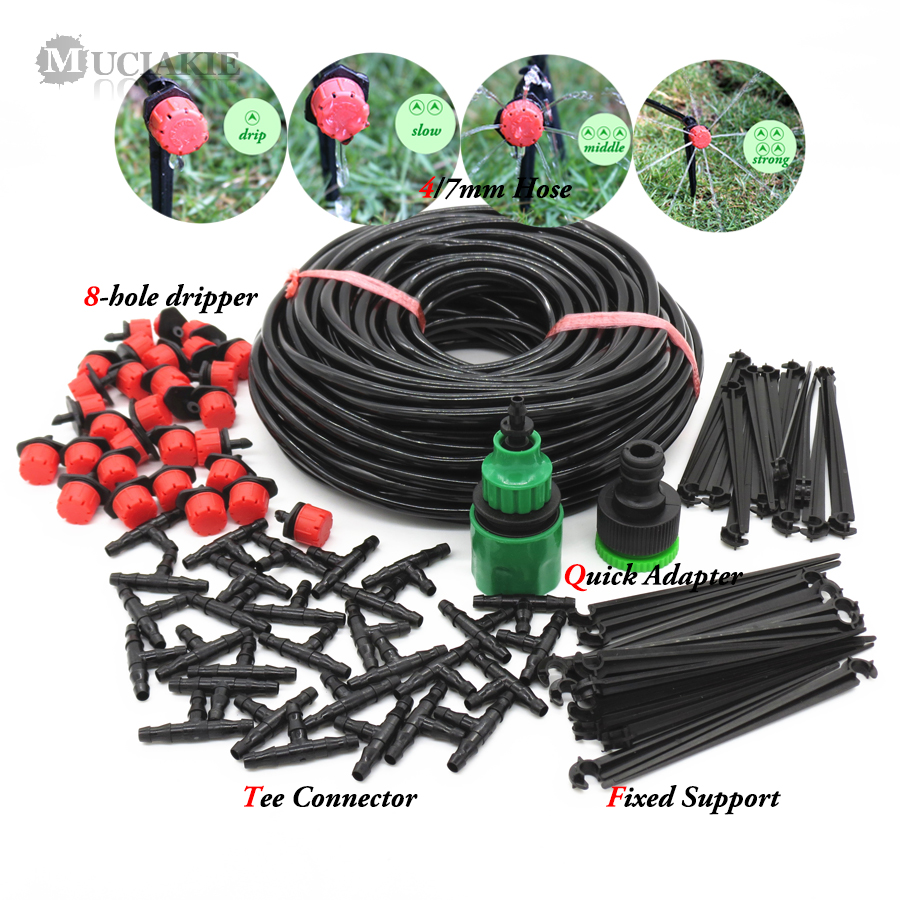MUCIAKIE 25M DIY Drip Irrigation System Automatic Watering