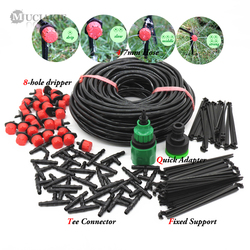 MUCIAKIE 25M DIY Drip Irrigation System Automatic Watering Garden Hose Micro Drip Garden Watering Kits with Adjustable Drippers