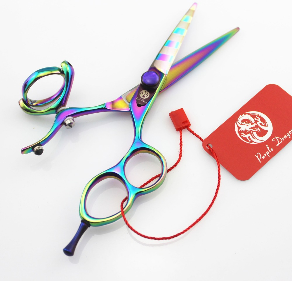 620 5 5 Brand Purple Dragon TOP GRADE Hairdressing Scissors JP 440C 62HRC Professional Barbers Cutting