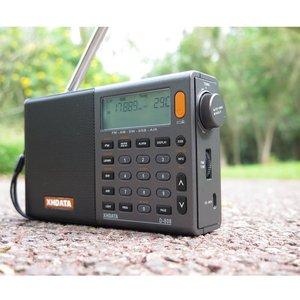 Image 4 - Xhdata D 808ポータブルデジタルラジオfmステレオ/sw/mw/lw ssbエアrdsマルチバンドラジオスピーカーlcd表示アラーム時計ラジオ