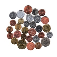 31 coins from 31 countries and areas Pakistan Bahrain Bulgaria Poland Germany Russia Ukraine usa america world wide