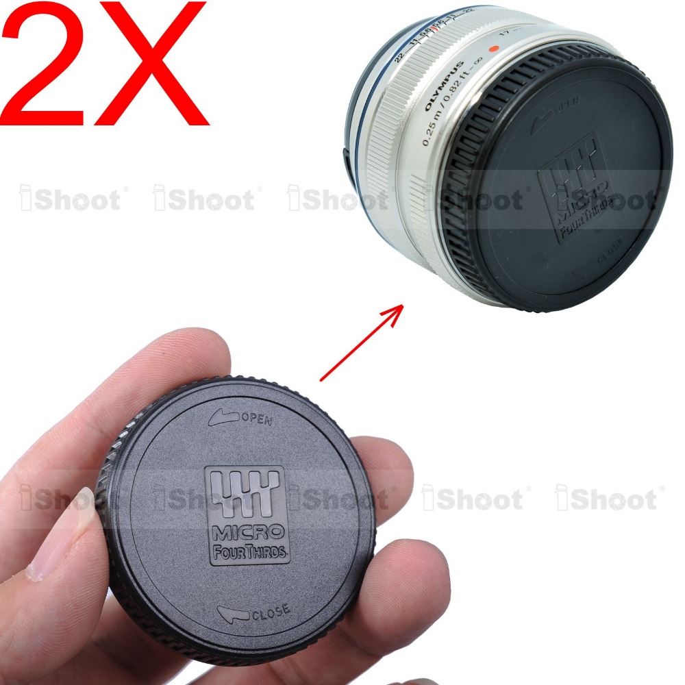 2x задняя крышка для Olympus m. Zuiko цифровой 14 - 42/3. 5 - 5.6 ; 17/1. 17/2. 8 ; 25/1. 45/1. 8 ; 7 - 14/2. 8 ; 9 - 18/4. 0 - 5.6 ; 12 - 40/2