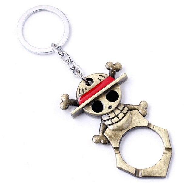 One Piece Logo Bar Beer Bottle Opener Key Chain