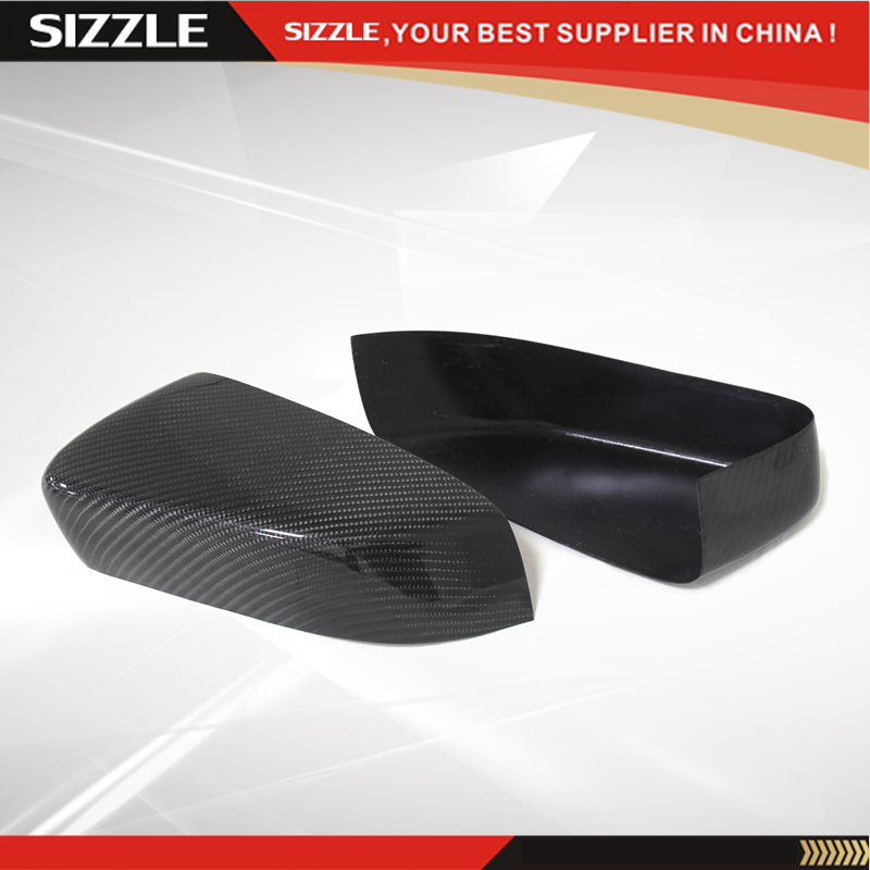 For Ford Mustang 2008 2009 2010 2011 2012 2013 Add On Style Carbon Fiber Rear View Mirror Cover Black Finish ford mustang v6 2011