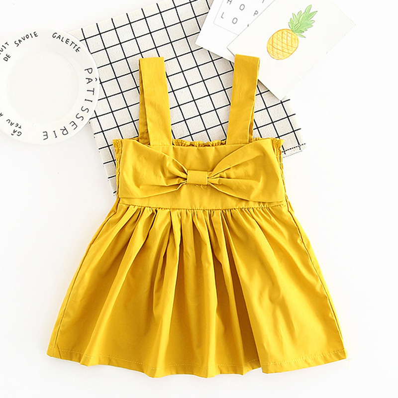 Summer Style Baby Girl Dress For Toddler Girls Princess Dresses Cotton Big Bow party dress For kids Vestidos Infantis