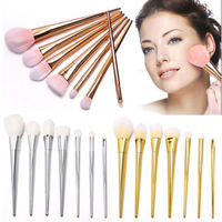Mix Gold Silver Rose Gold Brand new 7 Pcs Makeup Brushes Set Synthetic Hair Make Up Brushes Tools Cosmetic Foundation Brush Kits