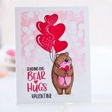 Eastshape Bear Metal Cutting Dies For Scrapbooking Animals Hug Cut Card Making Stencil Album Embossing New 2019