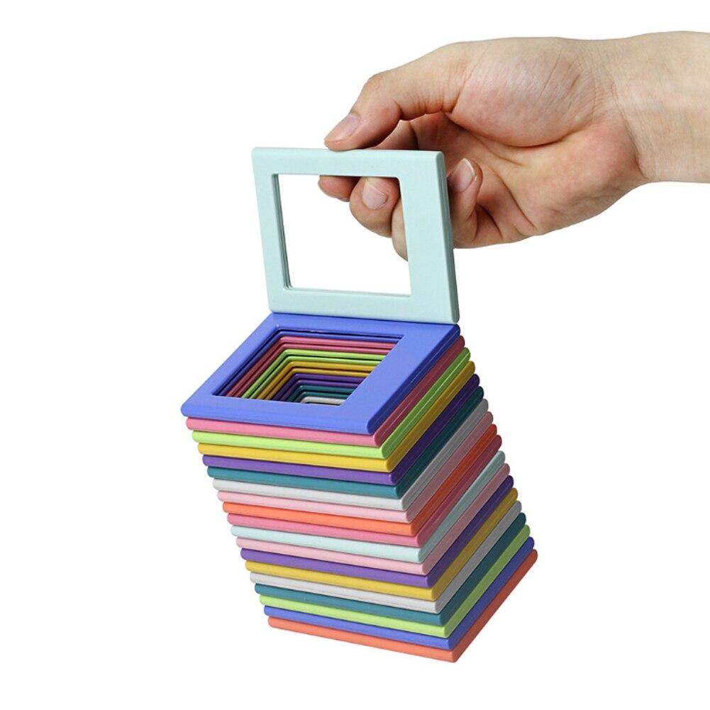 Image 3 - 10 шт. фоторамки магнитный мини 3 дюймов Комбинации сборки Стиль фото держатель стикеры на холодильник стол отделочные блоки-in Сумки для фото-/видеокамеры from Бытовая электроника