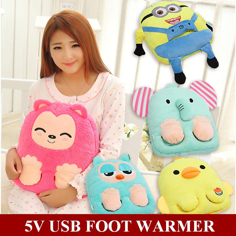 2018 neue Winter Indoor Minions Totoro Sloth Hans Cartoon Healthcare 5 v USB Fuß Wärmer Computer Lade Elektrische Beheizten Slipper