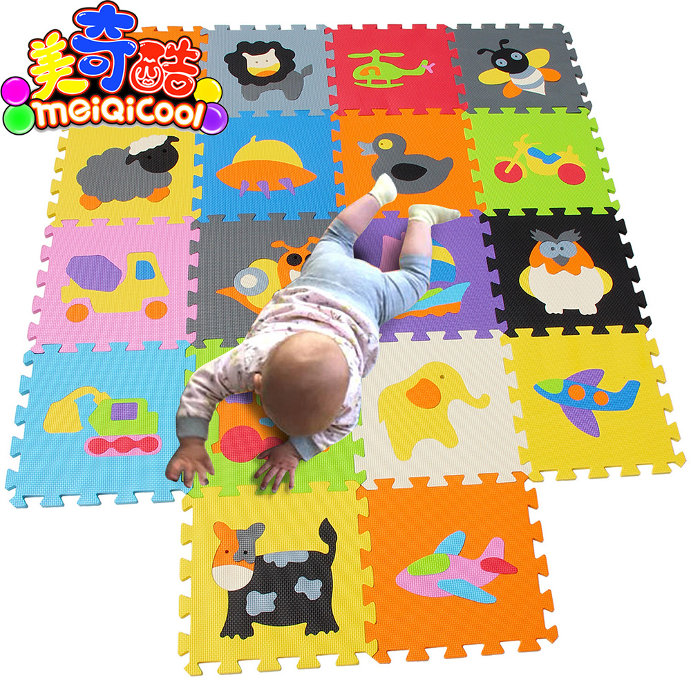 Mei qi cool baby play mat animal puzzle mats  Crawling Gym Rug Cartoon Floor Play Mat Babys Climb Blanket Game Carpet Eva FoamMei qi cool baby play mat animal puzzle mats  Crawling Gym Rug Cartoon Floor Play Mat Babys Climb Blanket Game Carpet Eva Foam