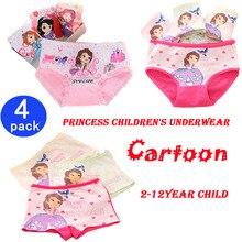 4pcs/set 2018 New Cotton Boxer Briefs princess Girls Underwear Children Kids Baby cartoon Panties Underpants 2-12year child недорого