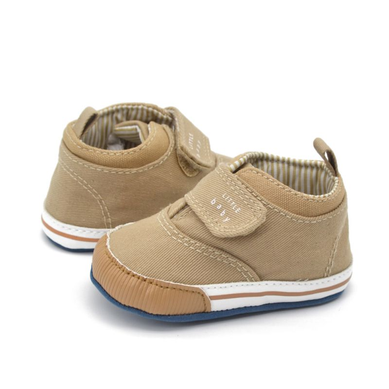Kids Baby Boy Shoes Soft Sole Cotton Ankle Canvas Crib Shoes Sneaker