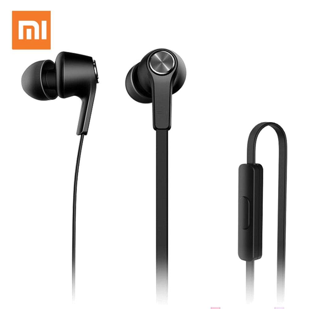 """מקורי שיאו mi mi צבעוני גרסה אוזניות mi 3.5 מ""""מ באוזן Wired בקרת עם mi C עבור Huawei שיאו mi mi אדום mi Smartphon"""