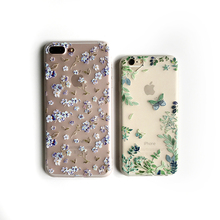 Fashion Soft Flower Case For iPhone 6 7 8 6S Plus 3D Fresh floral case For iPhone X Floral Fairy Cover Transparent Silicone case