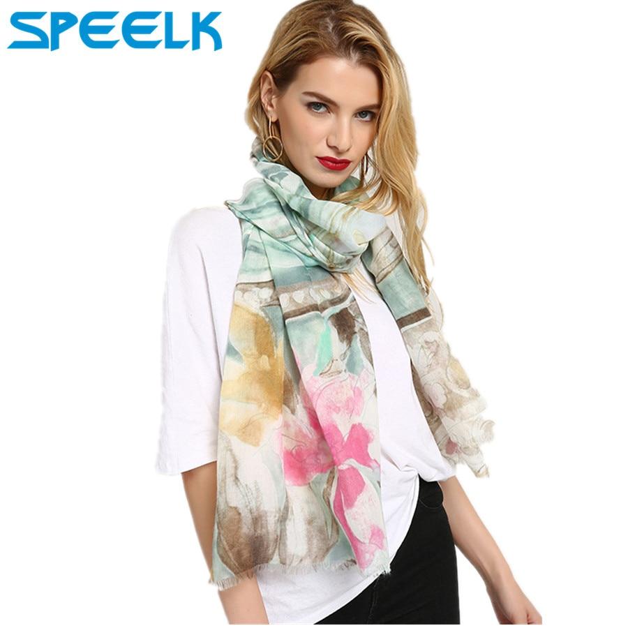 Printed Perfume Lily Pattern Scarves Women Western Print  Scarves Ladies Shawl Beach Towel Scarf Dropshipping