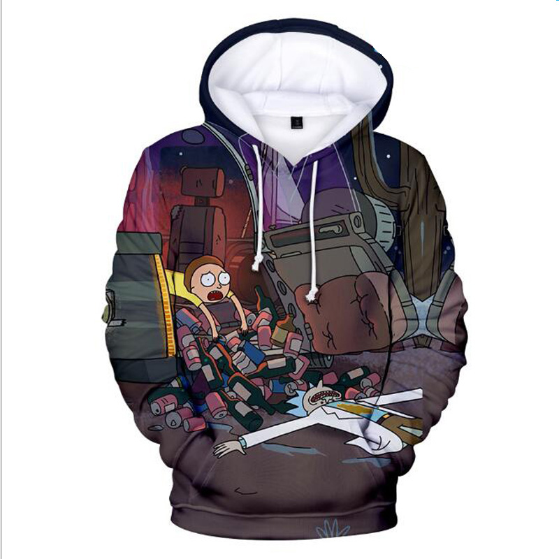 Classic Anime Rick and Morty 3D Hoodies Funny Crazy Scientist ricky y morty Print Men Women Hip Hop Streetwear Hoody Sweatshirt