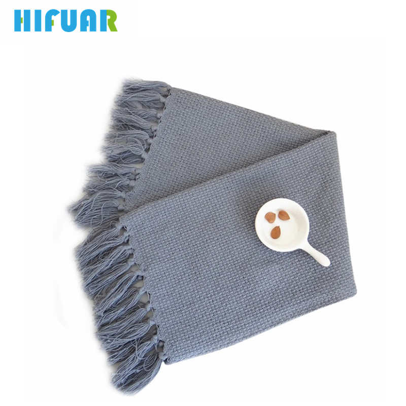 HIFUAR Weave Placemat Dinning Table Mat Pads with Tassel Anti-Slip Coasters Napkin Kitchen New Year Tablecloth Table Decoration
