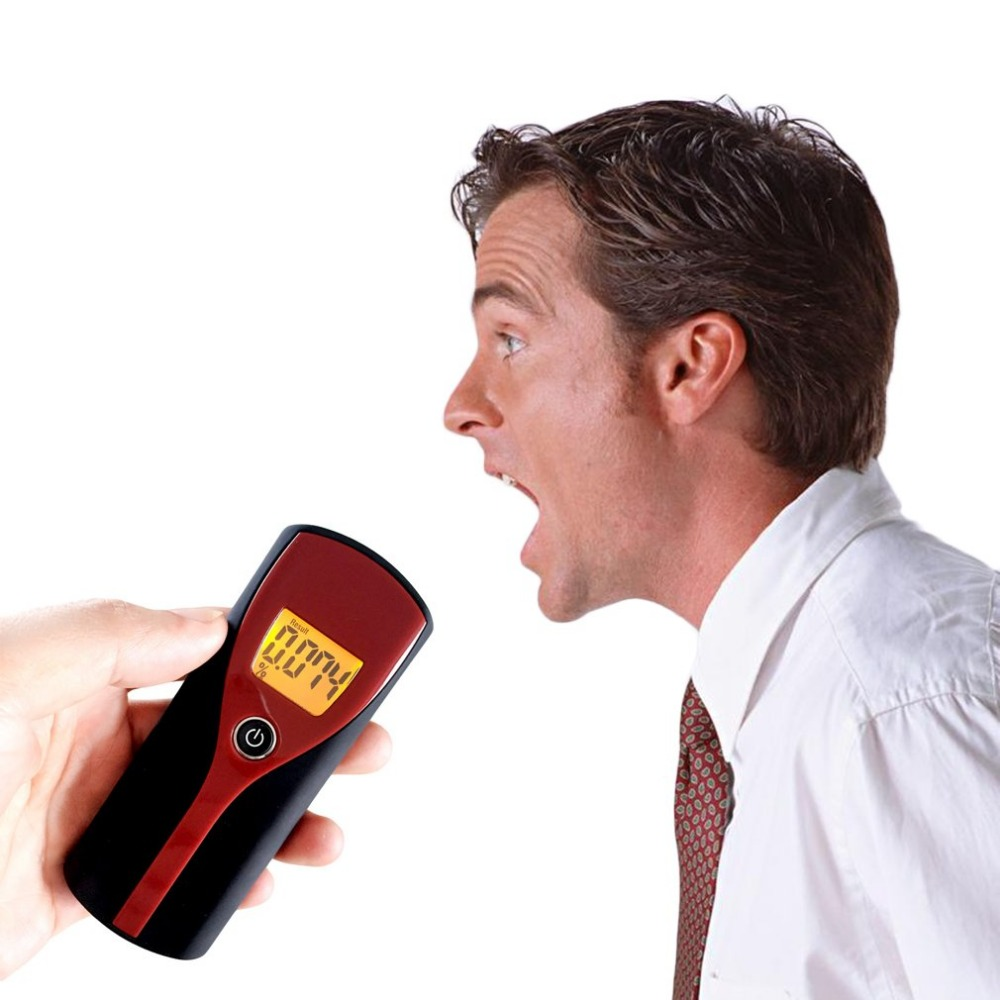 Breathalyzer Black & Wine Red Plastic Drop Shipping Professional Police Digital Breath
