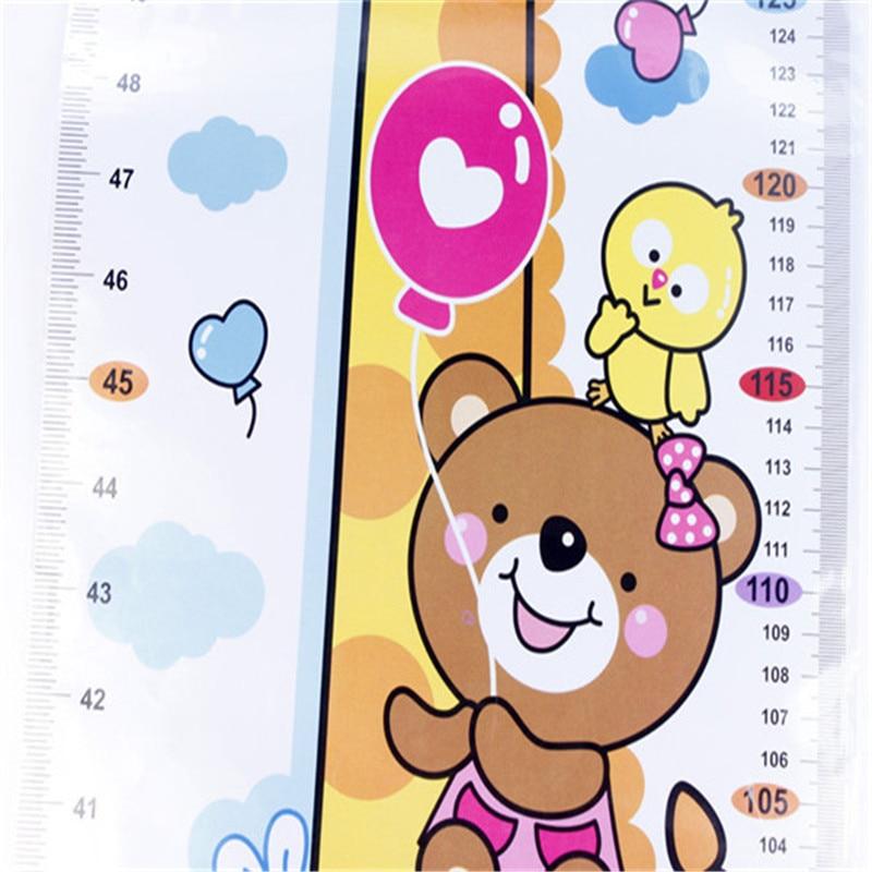 High Quality 1PC Kids Children Baby Growth Height Chart Wall Sticker Cartoon Giraffe Animal Height Sticker Home Decor