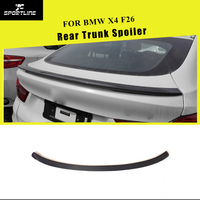 Carbon Fiber Car Rear Trunk Boot Lip Spoiler Wings for BMW F26 X4 2014 2015 2016 2017 P Style