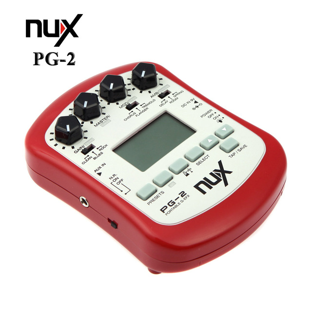 NUX PG-2 Electric Guitar Effect Pedal 24bit Multifunctional Portable 18 Types of Preset Guitar Parts For Music Instruments