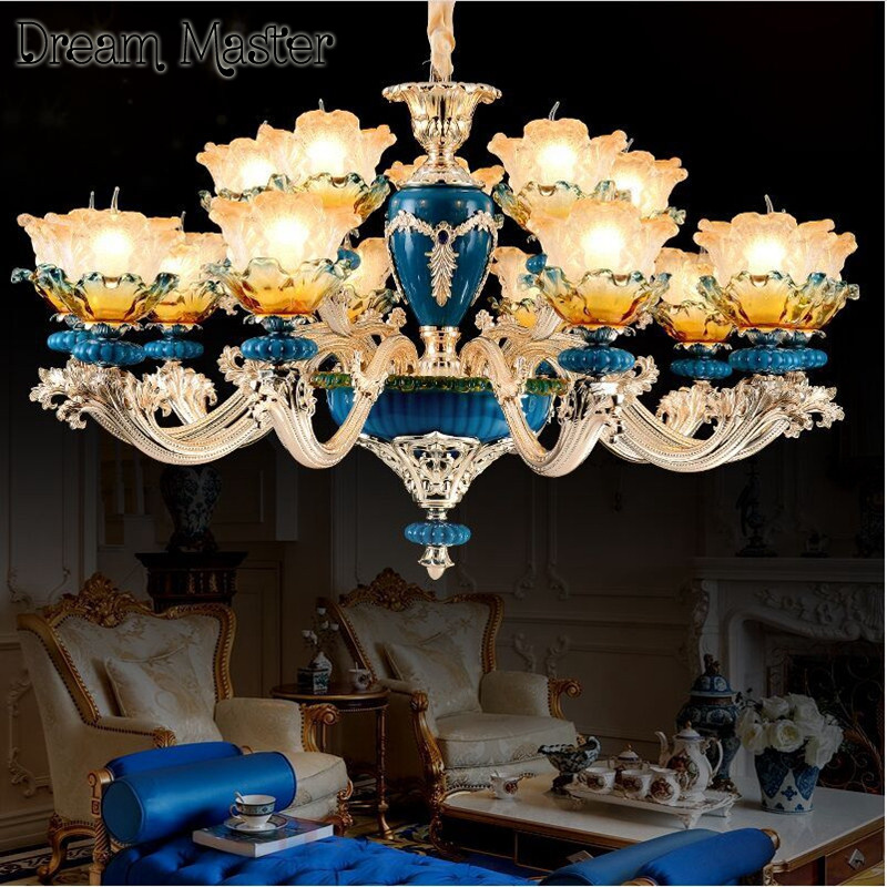 Painting Dining Room Chandelier: French Ceramic Painting Chandelier Living Room Dining Room