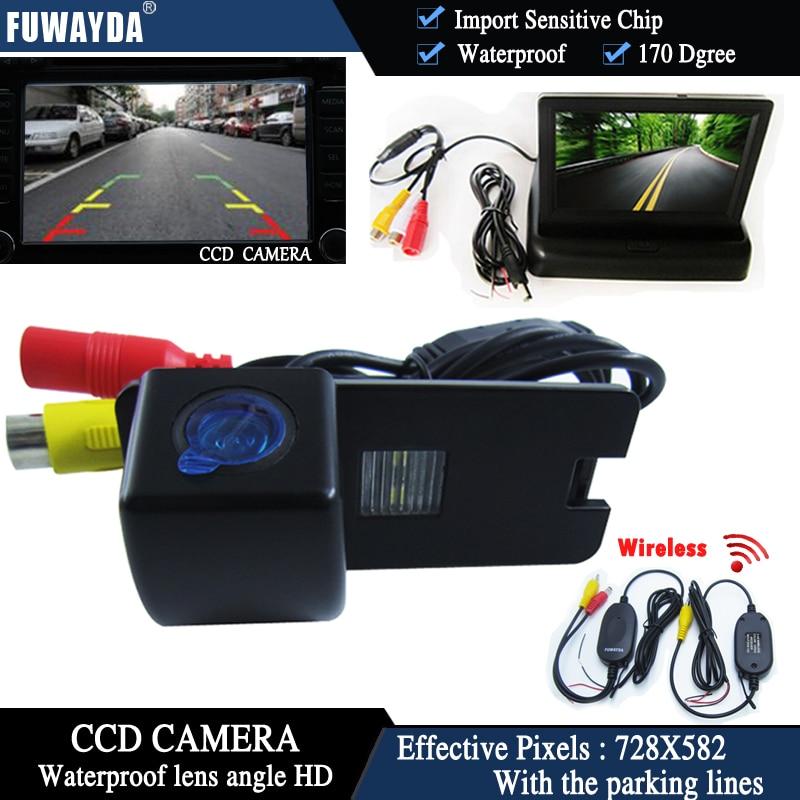 Fuwayda Беспроводной Цвет автомобиля чип заднего Камера для Holden Commodore Holden/Commodore VY VZ ve1 + 4.3 дюймовый складной ЖК-дисплей TFT Мониторы