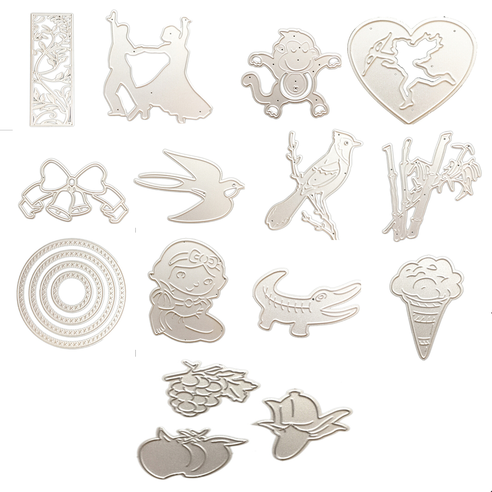 Punch Handheld Paper Card Shape Craft Stencil Metal Die Cutter Small Free Post