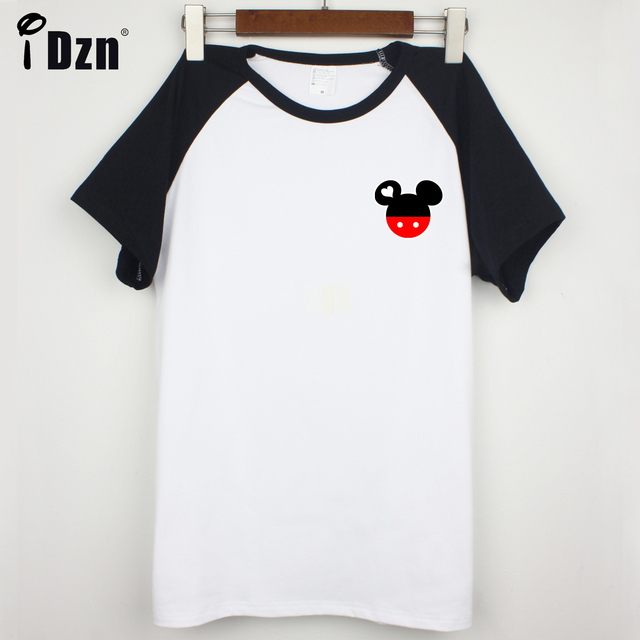 8cf7245b4b Summer Unisex Men Women T-shirts Casual Style Cute Mr Mrs Mouse Head Couple  T shirt Black Blue Short Sleeve Printed Tees Tops