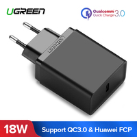 Ugreen 18 W USB Charger Quick Charge 3.0 Mobiele Telefoon Oplader voor iPhone Snelle QC 3.0 PD Oplader voor Huawei samsung Galaxy S9 +