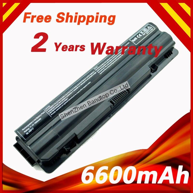 6600mAh 9 cells Laptop Battery for Dell XPS 14 15 17 L501X L502X L701X L702X L401X L501X L502X J70W7 JWPHF 312-1123 R4CN5