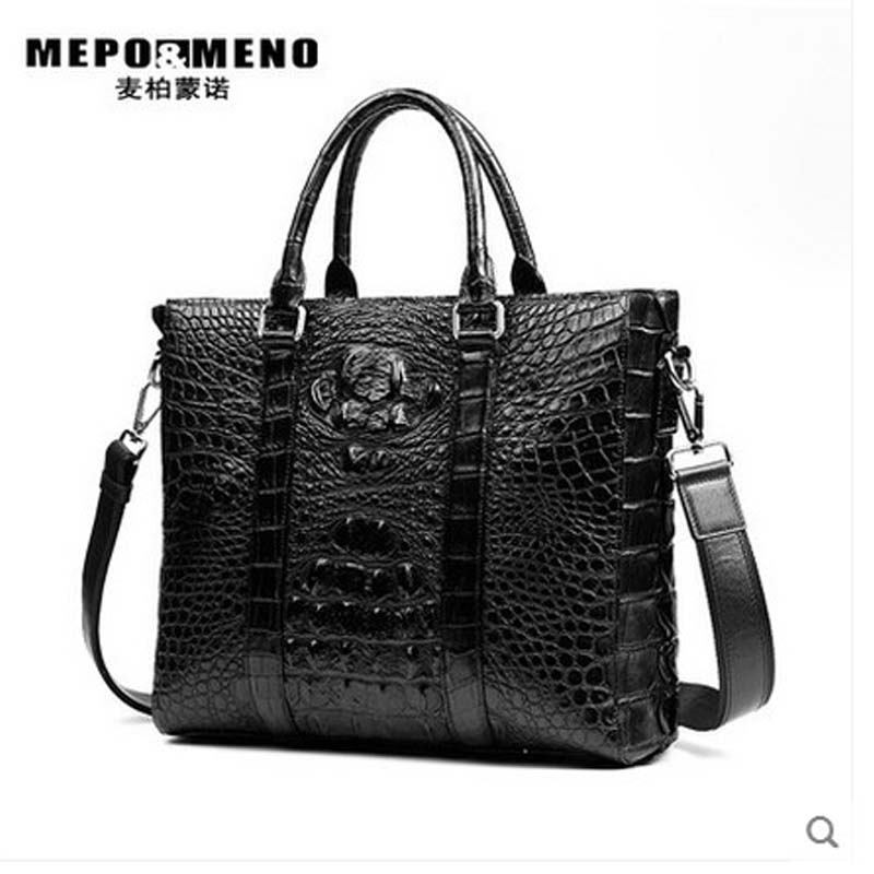 где купить maibomengnuo crocodile Big men bag male business men handbag large capacity of European and American fashion single shoulder по лучшей цене